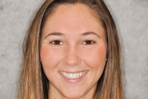 Headshot photo of Gabby smiling before dental bonding